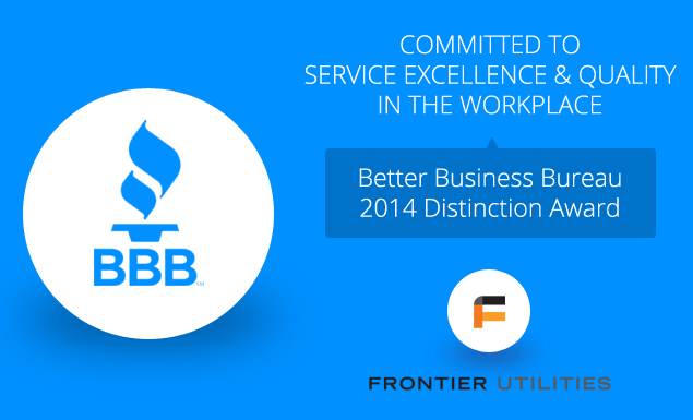 Frontier wins BBB 2014 Award of Distinction