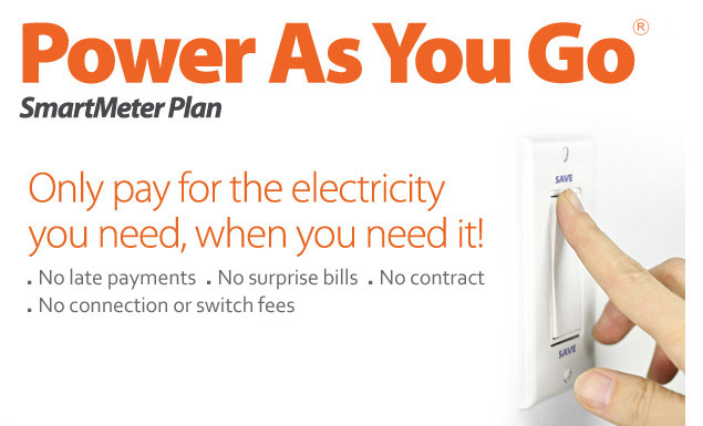 Choose Power As You Go and Only Pay for the Electricity You Need When You Need It!